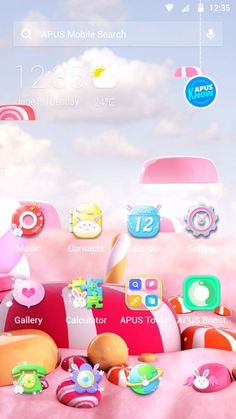 Candy Crush Android Theme, Pink and Cute - APUS Themes