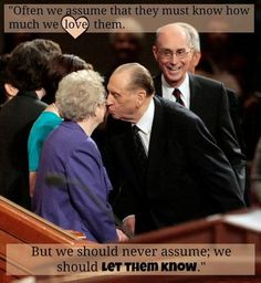 """""""Let them know ..."""" 