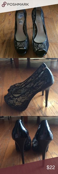 New Guess Lace Peep Toe Heels Sz 8.5 Brand new Guess Lace Peep Toe Heels. Purchased for $35 from Ross, size 8.5 Guess Shoes Heels