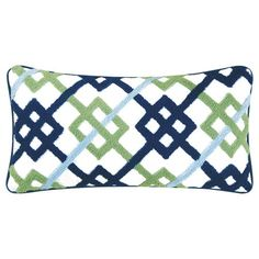 I pinned this Interlock Hooked Pillow from the Midsummer Dreaming event at Joss and Main! (guest room color combo!)