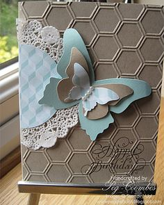 Beautiful Butterflies and Honeycomb Embossing Folder