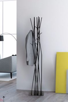 Latva (meaning tree top in Finnish) is a coat rack which recalls the birch leaves in wintertime.