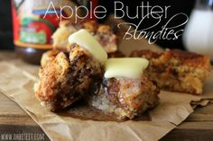 ~Apple Butter Blondies!