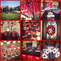 Twin Birthday Minnie / Mickey party. Cute idea for a couple years from now.
