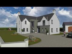 A Modified version of our house type L Shaped House Plans, House Designs Ireland, Bungalow Ideas, Self Build Houses, Creative Wedding Invitations, Ireland Homes, Types Of Houses, New Builds, Dream Houses