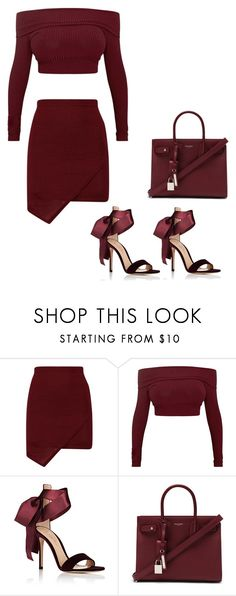 """""""Burgundy Lover"""" by xeniyagreen on Polyvore featuring Gianvito Rossi and Yves Saint Laurent"""
