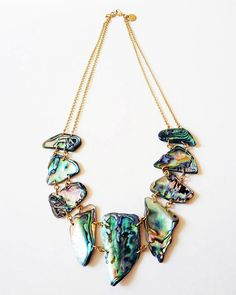The Paua Shell Collar by JewelMint.com, $109.00