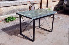 """Купить Стол в стиле Лофт """"X brace"""" - стол, лофт, лофт стиль, рустик"""