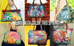 Make Spring BRIGHTER!Shop now... #bags #handpainted #painted #handbag #fashion #floral