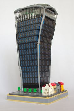 Famous towers in London skyline recreated at 1:650 in LEGO