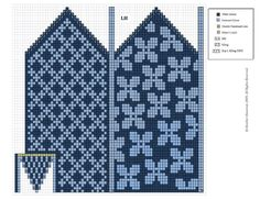 "Вязание. Жаккард - ""Зимняя радуга"" Double Knitting Patterns, Crochet Mittens Free Pattern, Fair Isle Knitting Patterns, Knitting Charts, Crochet Chart, Knitted Gloves, Knitting Socks, Knitting Designs, Counted Cross Stitches"