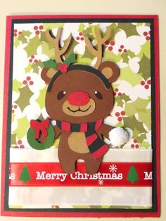 Cricut Teddy Bear Parade Reindeer Card