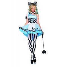 LA85225 Sexy Leg Avenue PSYCHEDELIC ALICE Fancy Dress Costume