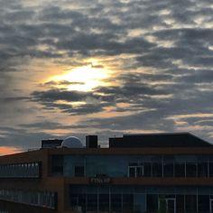 Blue sunset - flot blålig solnedgang ved HF i Odense #sunset #solnedgang