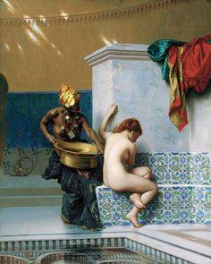 Bain turc, dit aussi Bain Maure, 1870 - Jean-Léon Gérôme (French, 1824-1904) Orientalim