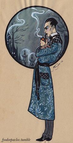 Sherlock Holmes Art Print by Fyodor Pavlov