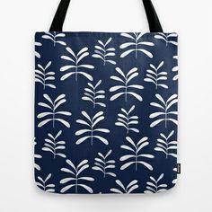 Bromeliads - indigo Tote Bag by Jill Byers