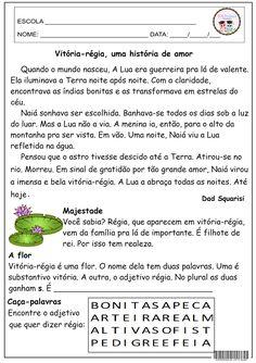SOS PROFESSOR-ATIVIDADES: Vitória-régia, uma história de amor.