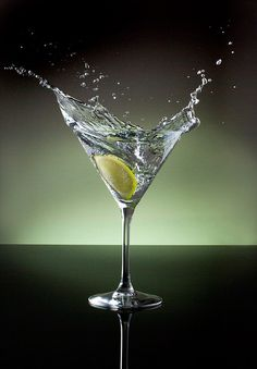 Martini glass no. 2 - Vodka and a splash of lime Motion Photography, Still Life Photography, Alcoholic Drinks, Cocktails, Beach Wallpaper, Foto Art, Advertising Photography, Martini, Vodka