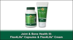 Director of Health Information Services Brent Vaughan PhD, RD, and Director of Product Development Shane Lefler, MS discuss how 4Life products can support joints, bones and muscular systems. Learn about the benefits of 4Life's Flex4Life® Capsules and Flex4Life® Cream.