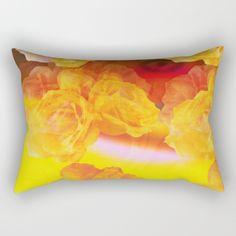 Roses Rectangular Pillow by KhadijLloyd - $27.00
