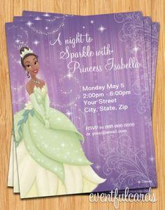 Disney Princess Tiana Birthday Party Invitation