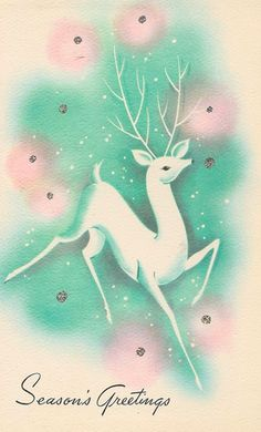 Old Christmas Post Сards — Deer Old Time Christmas, Old Fashioned Christmas, Christmas Deer, Christmas Past, Retro Christmas, Christmas Greetings, Vintage Christmas Images, Vintage Holiday, Christmas Pictures