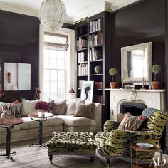 Designer Jeffrey Bilhuber. William Waldron photo in Architectural Digest.