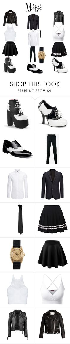 """magic"" by megibson2005 on Polyvore featuring Funtasma, Stacy Adams, Dolce&Gabbana, Joseph, Versace, Rolex, Doublju, Boohoo and Acne Studios"