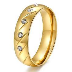 Damen Edelstahl 316 L Ring+Titanium Steel+Gr 54 (17,2 mm Ø)+G 9,5 g