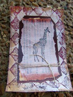 Giraffe art card