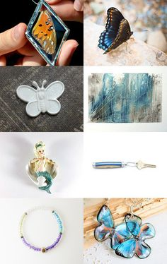 Butterfly Garden by Gail on Etsy--Pinned with TreasuryPin.com