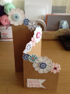 'With Love' Card- Handmade Cards- Diy Cards