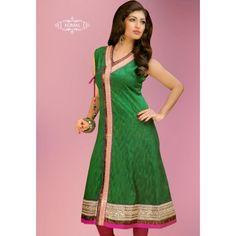 Green Angrakha Pattern #Kurti