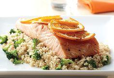 Pavés de saumon sur couscous au brocoli