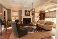 modern living room by kelley gardner; colors, layering rugs