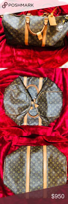 Authentic Louis Vuitton Keepall 50 Monogram Pre-loved in really good condtion. With dustbag. With padlock and key.. Very clean inside and out. No rips or tears.Really nice travel bag. Louis Vuitton Bags Travel Bags