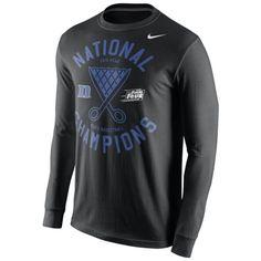 0f01bed82739 Men s Nike Black Duke Blue Devils 2015 NCAA Men s Basketball National  Champions Locker Room Long Sleeve T-Shirt