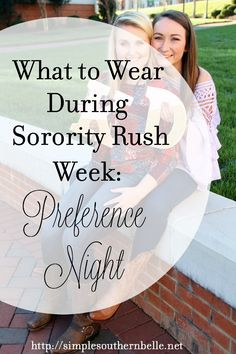 For those of you who don't know, preference night is the last night of sorority rush week. This night is when each sorority will share with you a part of their ritual and chapter. Focu…