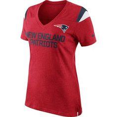 Ladies Nike Fan Top-Red
