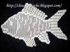 Crochet Fish appliqués with charts Crochet Fish Patterns, Doily Patterns, Crochet Motif, Irish Crochet, Crochet Designs, Crochet Doilies, Knit Crochet, Crochet Needles, Thread Crochet