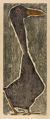Goose by Leona Pierce / woodcut