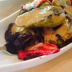 Ψητά Λαχανικά με σως μουστάρδας