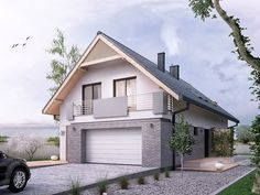 We know how tough it can be to design your perfect home. Home Design Plans, Home Interior Design, Archi Design, Fire Pit Patio, Garage Apartments, Design Case, Modern Spaces, Home Fashion, House Front
