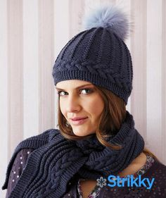 Хотите на зиму связать очаровательный комплект от известного бренда Schachenmayr? Предлагаем шапочку и шарф с косами и жгутами спицами, которые будут как нельзя кстати в нынешнем сезоне.