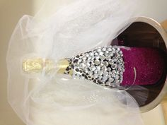 We'll kick it off with this great idea for decorating a #bacheloretteparty champagne bottle! #DIY