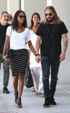 Zoe Saldana & Marco Perego from The Big Picture: Today's Hot Pics The cute couple is spotted enjoying a shopping trip in Beverly Hills.
