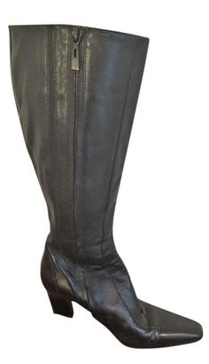 c0c3d1191fa Lord   Taylor Women s Black Leather Knee High Boots