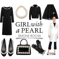 """Girl with a Pearl: Simone Rocha"" by modaoperandi on Polyvore"