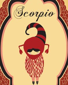 Scorpio Zodiac Astrological Sign Poster Scorpio por ParadaCreations, $19.00
